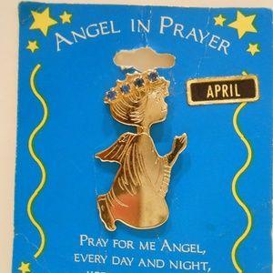 Praying Angel April birthstone